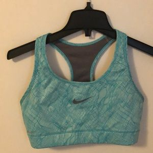 Teal and gray Nike sports bra